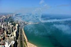 Chicago, Illinois - EUA - 19 de agosto de 2017: Skyline de Chicago e A Imagem de Stock Royalty Free