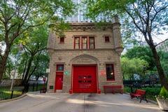 Chicago, Illinois, EUA - 2 de julho de 2017: Construção do departamento dos bombeiros Imagens de Stock Royalty Free
