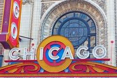 Chicago, Illinois: het Theater van Chicago op 22 September, 2014 Stock Afbeeldingen
