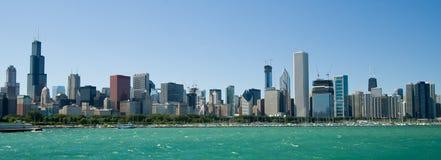 chicago illinois horisont royaltyfria bilder