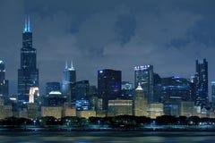 Chicago Illinois horisont Arkivfoton