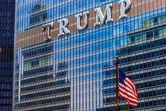 CHICAGO, ILLINOIS - 10. JULI 2018 - Schließen Sie oben vom Trumpf herein stockfotografie
