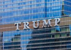 CHICAGO, ILLINOIS - 10. JULI 2018 - Schließen Sie oben vom Trumpf herein stockfotos