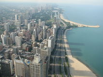 Chicago Illinois. Chicago, on Lake Michigan in Illinois, is among the largest cities in the U.S. Famed for its bold architecture, it has a skyline bristling with royalty free stock images