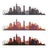 Chicago, Illinois linii horyzontu miasto kolorowa sylwetka royalty ilustracja