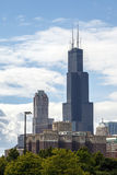 chicago Illinois przypala wierza Zdjęcie Stock