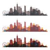 Chicago, Illinois skyline city colorfull silhouette. Royalty Free Stock Photography