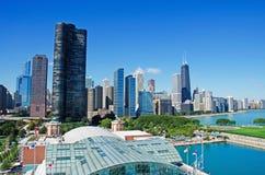 Chicago, Illinois: skyline, Lake Point Tower and the John Hancock Center seen on September 22, 2014 Stock Photo