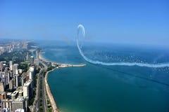 Chicago, Illinois - U.S.A. - 19 agosto 2017: Orizzonte di Chicago ed A Immagine Stock