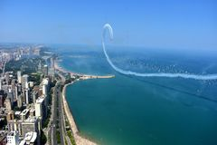 Chicago, Illinois - U.S.A. - 19 agosto 2017: Show aereo 2017 di Chicago Fotografia Stock Libera da Diritti