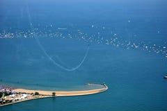 Chicago, Illinois - U.S.A. - 19 agosto 2017: Spiaggia del nord Ch del viale Immagini Stock
