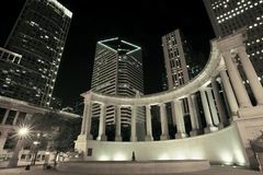 Chicago Illinois USA. Millennium Park at Night. American Architecture Photography Collection Stock Photography