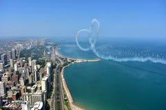 Chicago Illinois - USA - Augusti 19, 2017: Chicago horisont och A Arkivbild