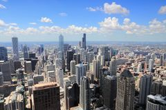 Chicago. Illinois USA. City skyline aerial view stock photo