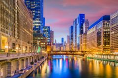 Chicago, Illinois, USA Cityscape Royalty Free Stock Images