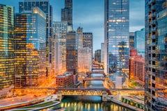Chicago, Illinois, USA Cityscape Royalty Free Stock Photos