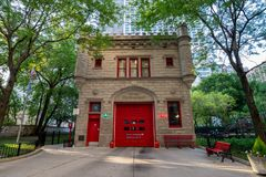 Chicago, Illinois, USA - July 02, 2017: Fire Department building. In Chicago downtown Royalty Free Stock Images