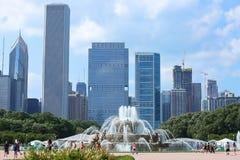 Buckingham Fountain a Chicago landmark in the center of Grant Park. royalty free stock photos