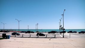 CHICAGO, ILLINOIS - April 30, 2015 Usa Lake Michigan Millennium Park Cityscape View