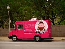 Chicago Illinois, USA - matlastbil på gatan av Chicago fotografering för bildbyråer