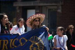 Cinco De Mayo Parade Chicago 2017. Chicago, Illinois, USA - May 07, 2017, The Cinco De Mayo Parade is held to remember the victory the Mexican forces had over Royalty Free Stock Photos