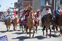 Cinco De Mayo Parade Chicago 2017. Chicago, Illinois, USA - May 07, 2017, The Cinco De Mayo Parade is held to remember the victory the Mexican forces had over Royalty Free Stock Photo