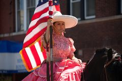 Cinco De Mayo Parade Chicago 2017. Chicago, Illinois, USA - May 07, 2017, The Cinco De Mayo Parade is held to remember the victory the Mexican forces had over Stock Image