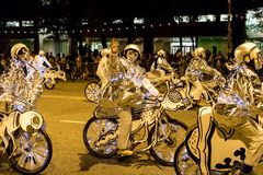 The Arts in the Dark, The Halloween Parade 2017 stock image