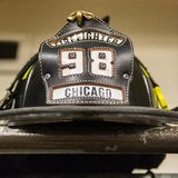 Chicago Fire reportage royalty free stock photos