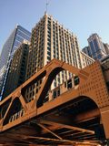 Chicago, Illinois, USA. The photograph of Chicago urban style, architecture, buildings, skyscrapers, travel, adventures, channel, tube, overground Royalty Free Stock Photography