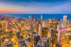 Chicago, Illinois, USA Skyline Royalty Free Stock Photography