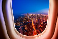 Free Chicago Illinois USA View From Plane Window Royalty Free Stock Image - 139316316