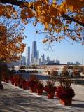 Chicago im Stadtzentrum gelegen Lizenzfreies Stockbild