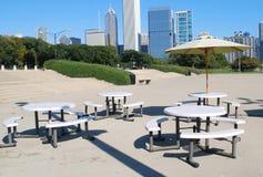 Chicago im Stadtzentrum gelegen Stockbilder