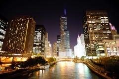 Chicago im Stadtzentrum gelegen Stockbild