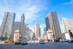 Chicago im Stadtzentrum gelegen Lizenzfreie Stockfotografie