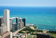 Chicago im Stadtzentrum gelegen Lizenzfreie Stockbilder