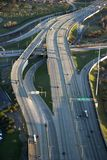 Chicago interstate. Aerial view of traffic on Dan Ryan Expressway in Chicago, Illinois Stock Image