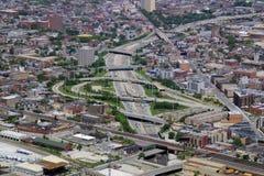 chicago interstate illinois arkivfoton