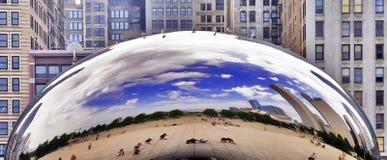 Chicago-Jahrtausend-Park-Wolken-Gatter Lizenzfreies Stockbild