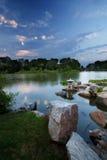 Chicago - jardins japoneses imagens de stock