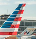 CHICAGO - JULY 27, 2017: American Airlines plane on ramp in Chic Royalty Free Stock Images
