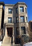 Chicago 3 lägenhet Arkivfoto