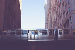 Chicago L pociąg Zdjęcia Stock