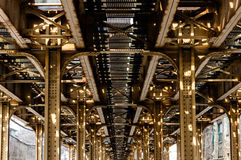 Chicago L trilhas Imagens de Stock Royalty Free