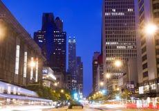 Chicago la nuit images libres de droits