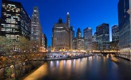 Chicago la nuit Photo stock