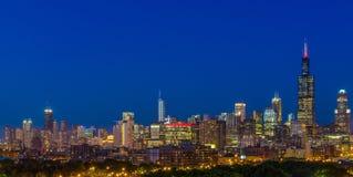 Chicago la nuit Photo libre de droits