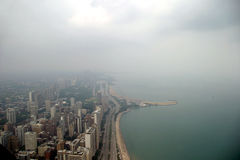 Chicago - lado norte en un día brumoso Imágenes de archivo libres de regalías