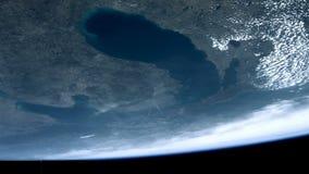 Chicago, lago green Bay, el lago Hurón, Michigan del espacio almacen de metraje de vídeo